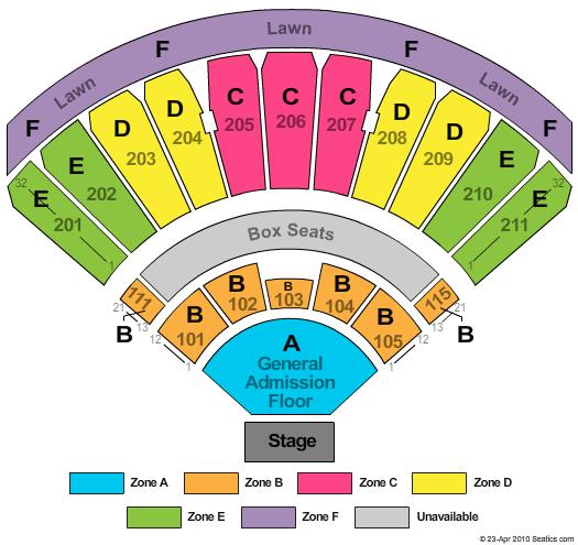 Venue Seating Charts Bryonsconcertblog
